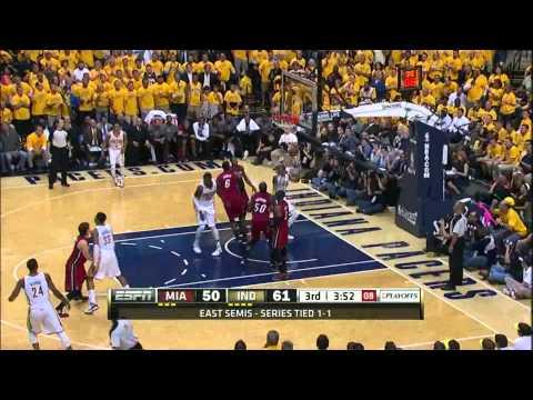 Roy Hibbert 19 points 17 rebounds 5 blocks vs Miami Heat full highlights GM3 NBA Playoffs 2012 HD