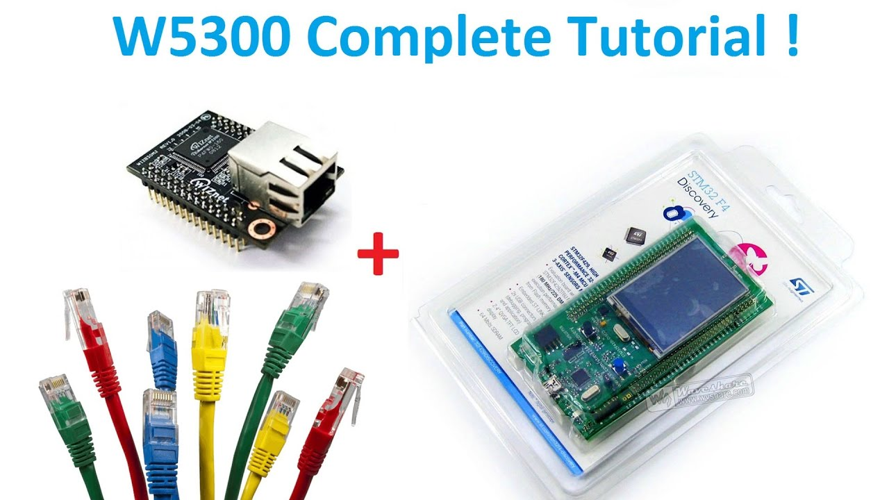 Tutorial : W5300 interface to STM32 with VB example + website