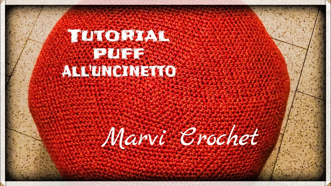 Tutorial Puff Alluncinettocrochet Puff Crochet Big Pillow Youtube