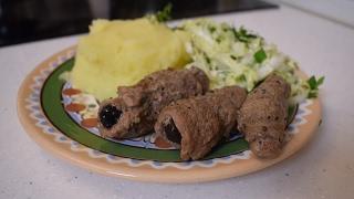 Мясные пальчики с черносливом / Крученики (Мясные рулетики)