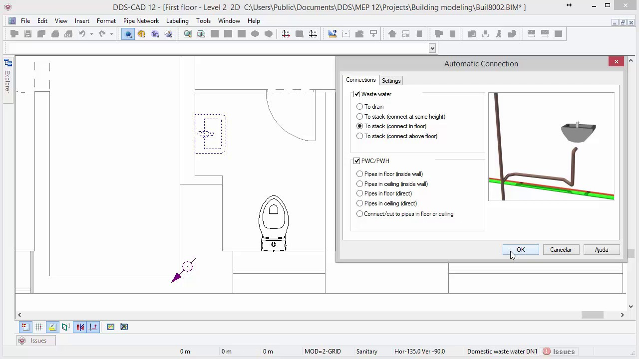 dds cad 12 getting started plumbing system design 7 8  [ 1280 x 720 Pixel ]