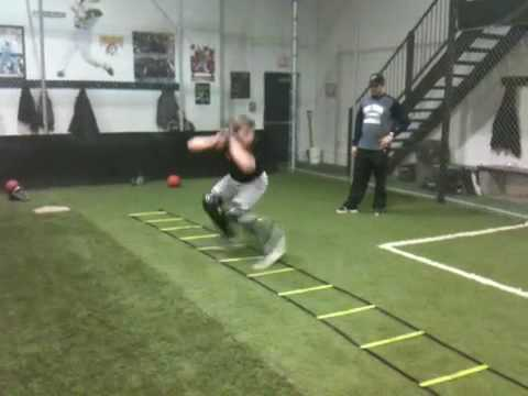 Catchers footwork drills-Pro Teach Baseball - YouTube