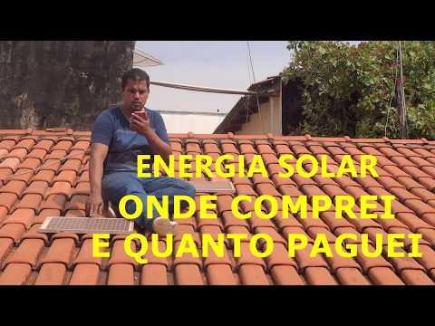 Energia Solar Onde Comprei Quanto Paguei