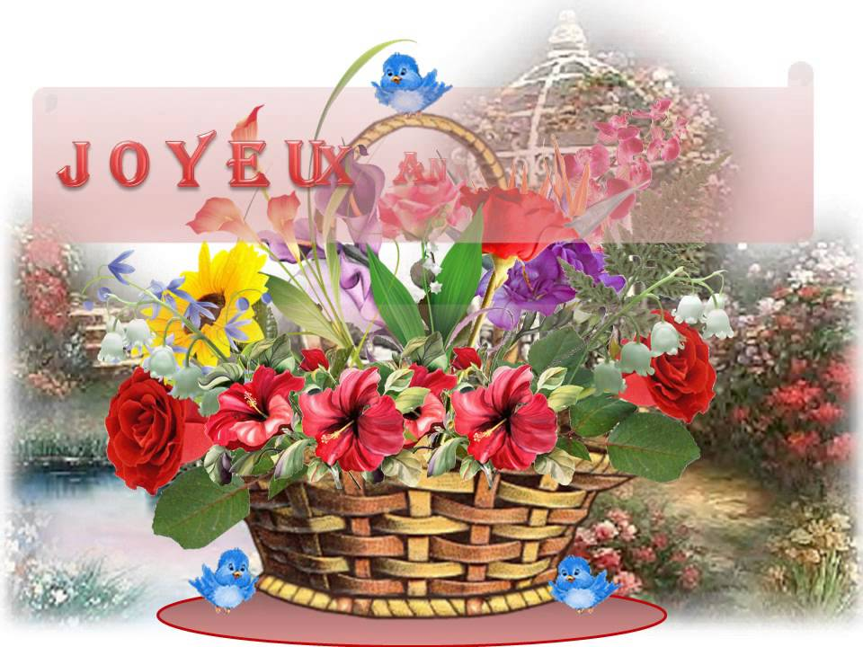 Anniversaire cartes virtuelles youtube for Bouquet de fleurs 70 ans