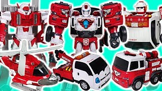Tobot V Rescue R, Y, Zero, Captain Police transform! Defeat the King Kong and dinosaur! #DuDuPopTOY