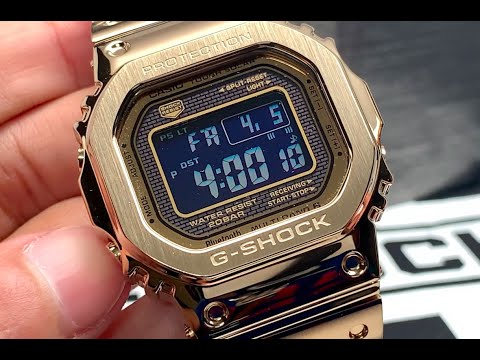 Gold G-Shock! GMWB5000 Review And Unboxing! Awesome Design