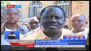 Kalonzo Musyoka defends his name inclusion in IEBC list whilst Raila Odinga says it is a speculatio