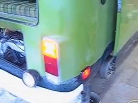 VW bus front turn signal modification