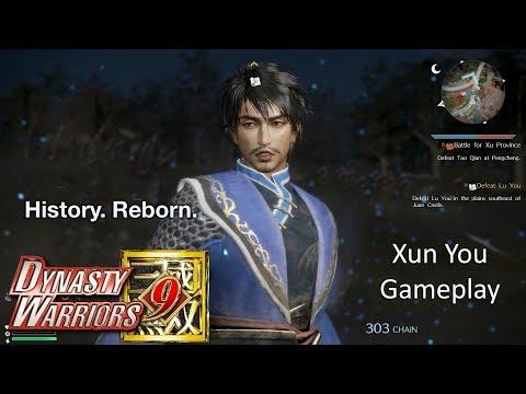 Dynasty Warriors 9 - Xun You Gameplay (Hard Difficulty)