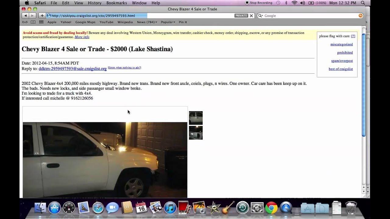 craigslist siskiyou county used cars older models available online youtube. Black Bedroom Furniture Sets. Home Design Ideas