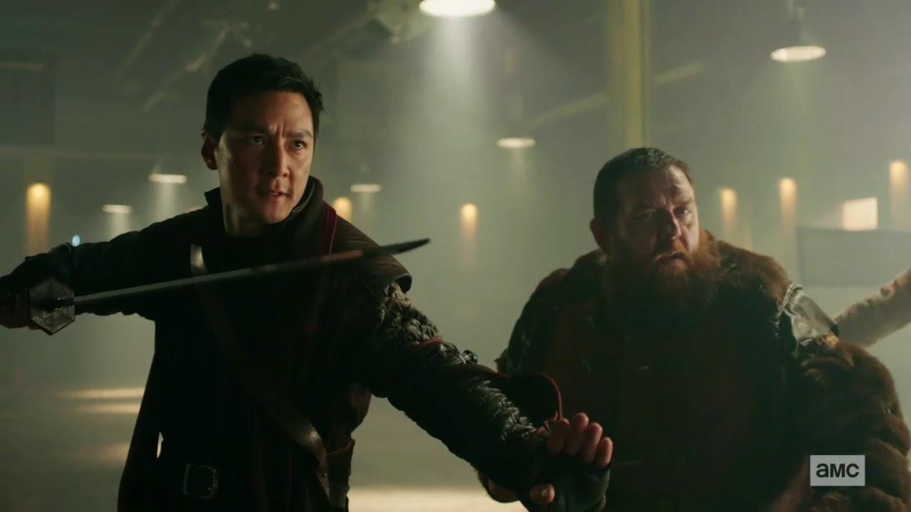 Download INTO THE BADLANDS---SUNNY,BAJIE,AND CHAU FIGHT THE BLACK LOTUS CLAN AT THE OLD BUS DEPOT---HD