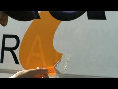 how to remove vinyl graphics from a van