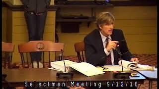 Seletcmen Meeting 9/12/16
