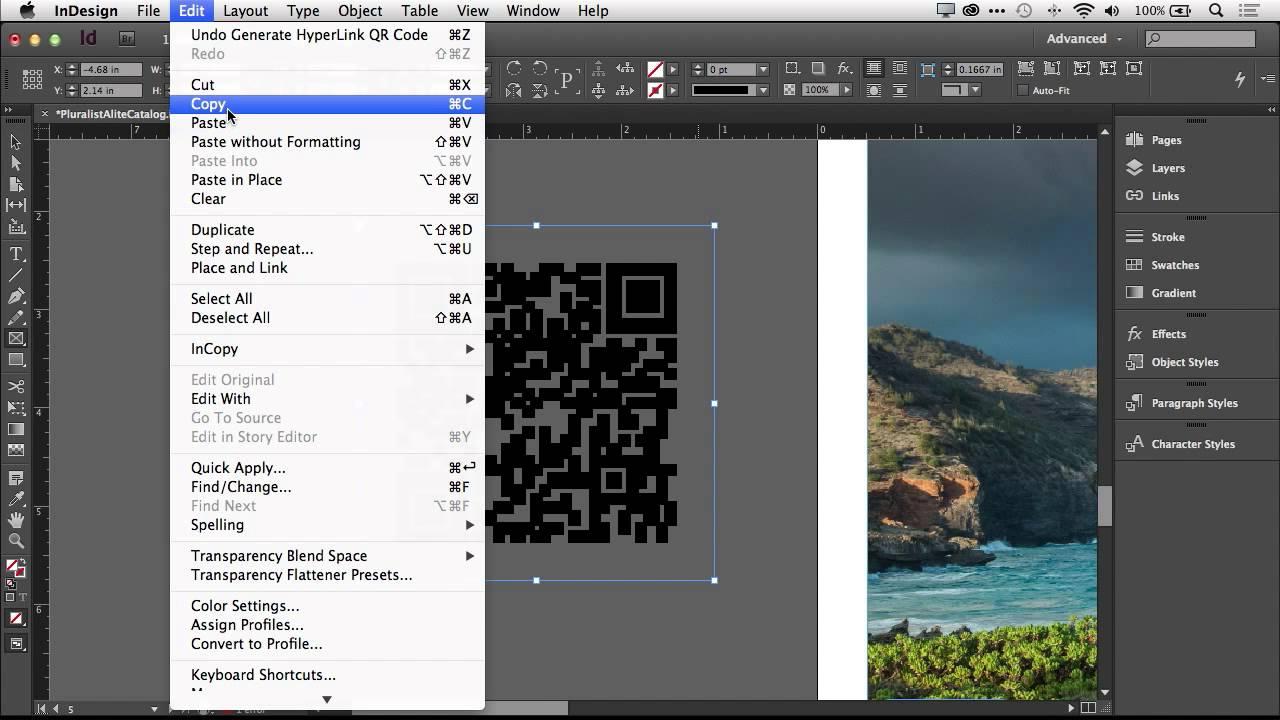 Create QR Codes in Adobe InDesign CC