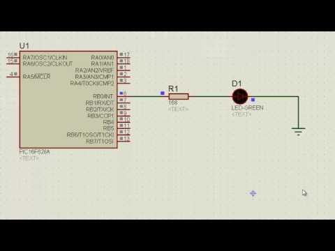 Download PIC16F628A - Encender y Apagar Led Automaticamente - Lenguaje C - Link para Descargar Codigo