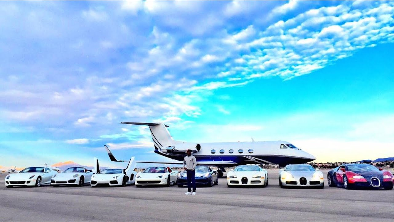 Floyd Mayweather Shows off His Private Jet Crazy Car Collection