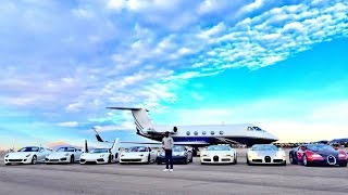 Floyd Mayweather Shows off His Private Jet & Crazy Car Collection