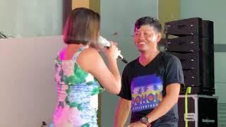 Abdul Amin Buroy with Katya Santos (During the 59th Araw ng Sibuco Celebration)