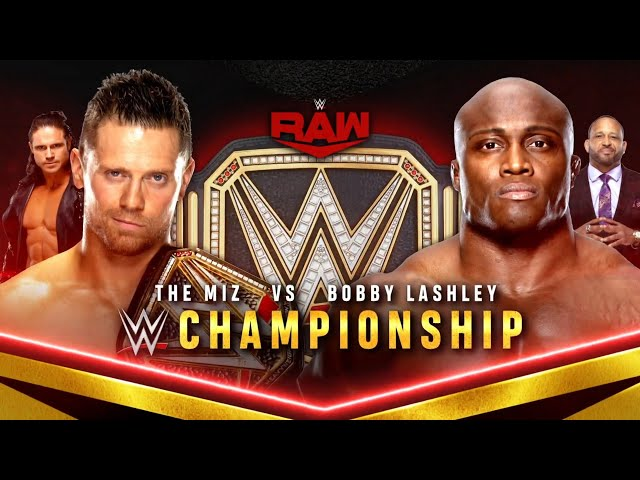 The Miz clashes with Bobby Lashley for the WWE Title this Monday on USA