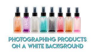 Product photography on a white background using Super Flags