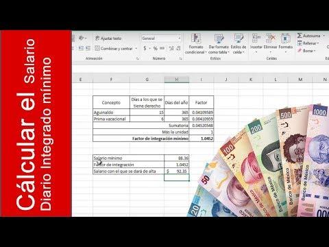 ¿Cómo Calcular El Salario Diario Integrado? Ejemplo Con El Salario Mínimo