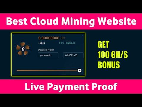 Best Cloud Mining Website 2021    Bitcoin Cloud Mining Site    Get 100 Gh/s Bonus