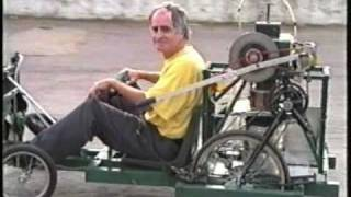 Road testing a Stirling engine powered buggy, (filmed in Norwich England,  2001)