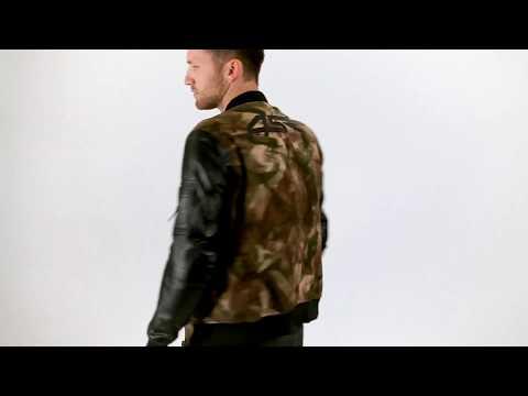 4SR Bomber Camo Jacket | Best Leather Motorcycle Jacket