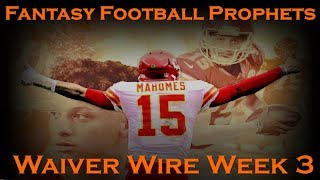 Fantasy Football 2018 Week-3 Waiver Wire