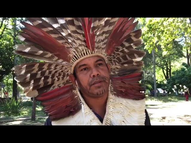 Arildo Cebalio, indígena, no IV ENA