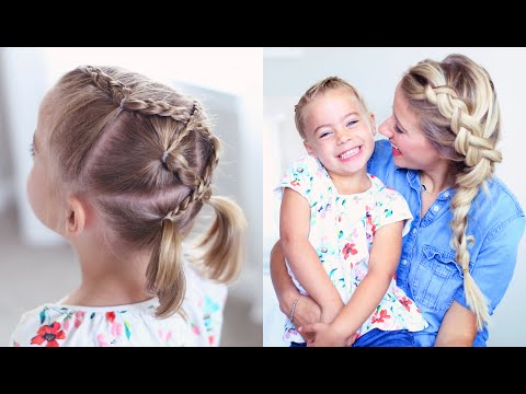 Criss Cross Braid | Back to School Hairstyles | Cute Girls Hairstyles