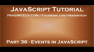 Events in JavaScript