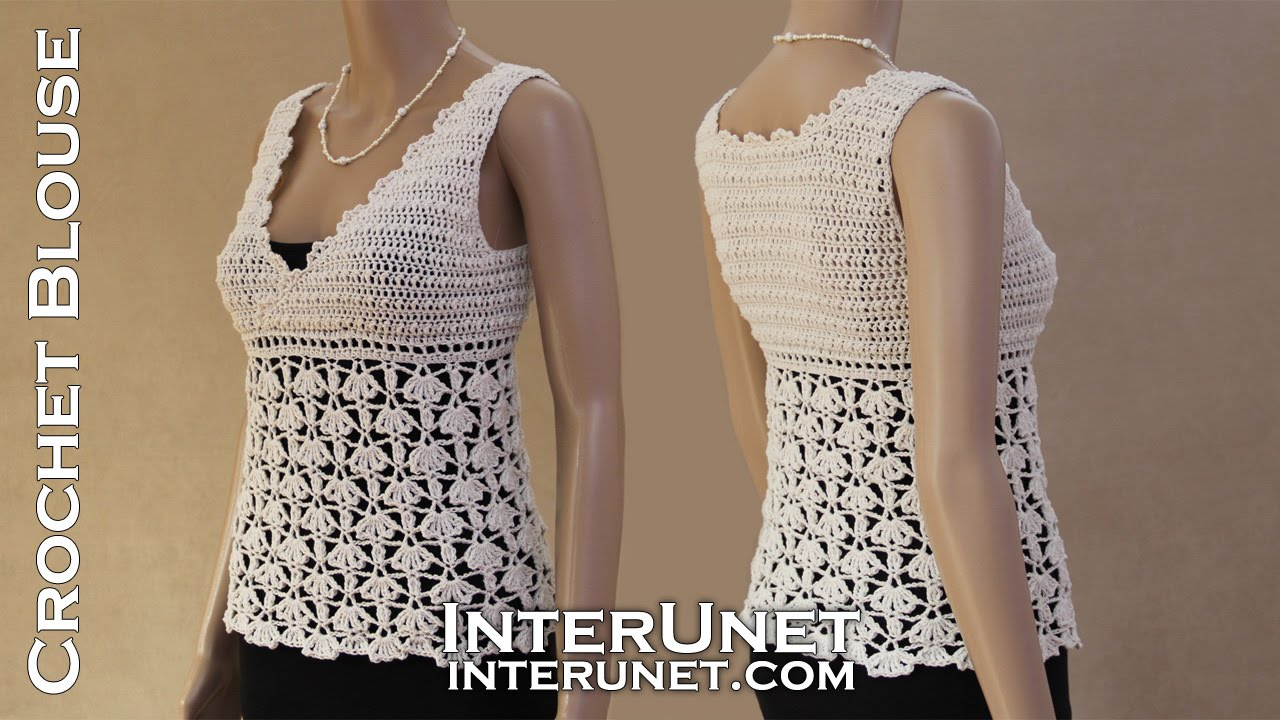 White Ivy Tank Top Crochet Lace Blouse Youtube