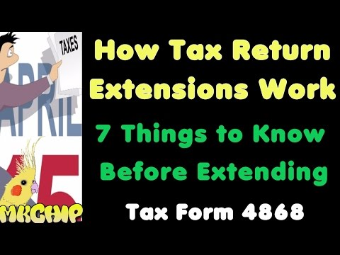 How Do Tax Return Extensions Work? What Happens If I Extend My Tax Return? IRS Form 4868 Example