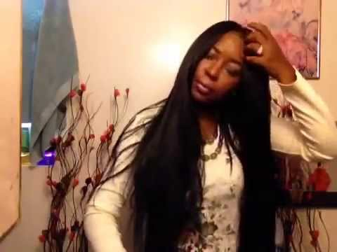Crochet Straight Hair Youtube : Crochet braids straight hair,neatly done Part 2 - YouTube