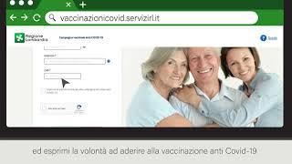 Il tutorial per prenotare il vaccino tramite il sistema di Regione Lombardia