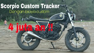 Scorpio custom Tracker biaya 4 jutaan #Tracker #Scrambler #Japstyle