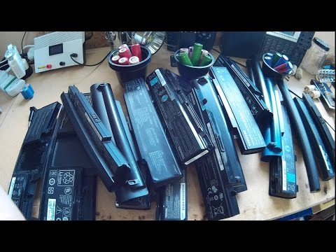 Ebike Battery Pack Built From Laptop Batteries