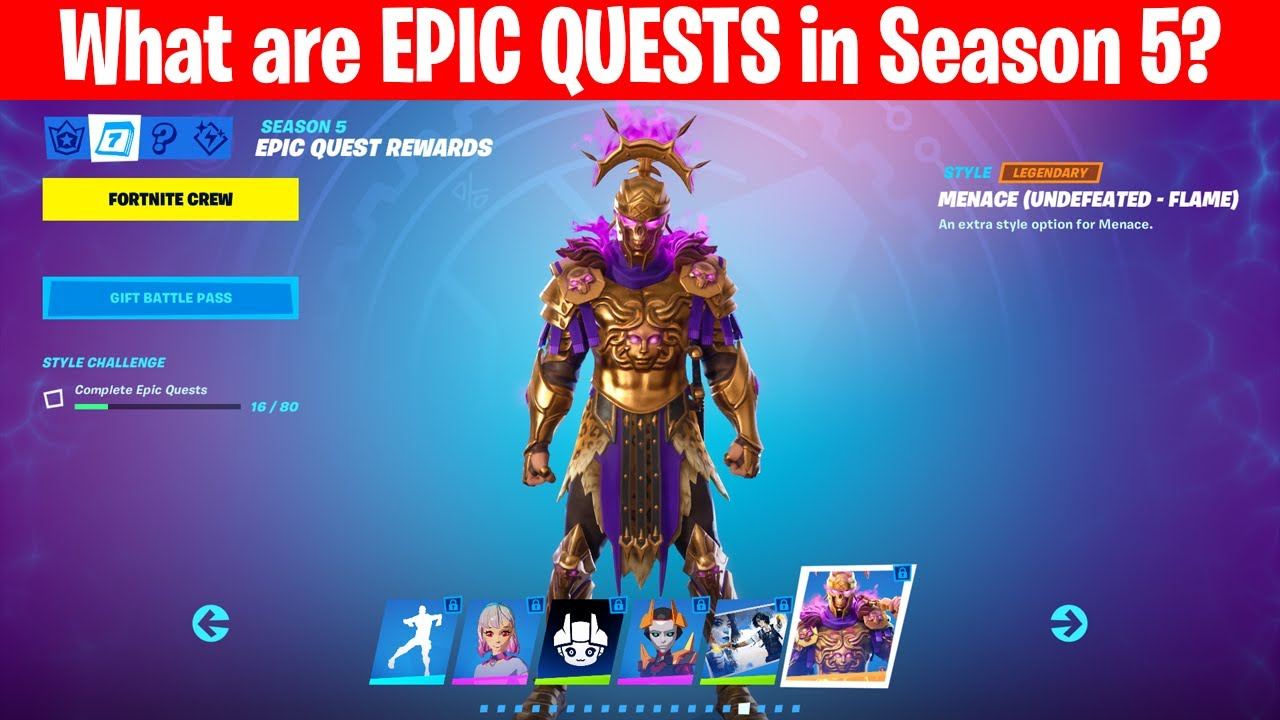 What Are Epic Quests In Season 5 Of Fortnite Youtube Island codes ranging from deathrun maps to parkour, mini games, free for all, & more. what are epic quests in season 5 of fortnite