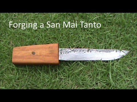 Forging a San Mai Tanto out of Cutter Blades and a File