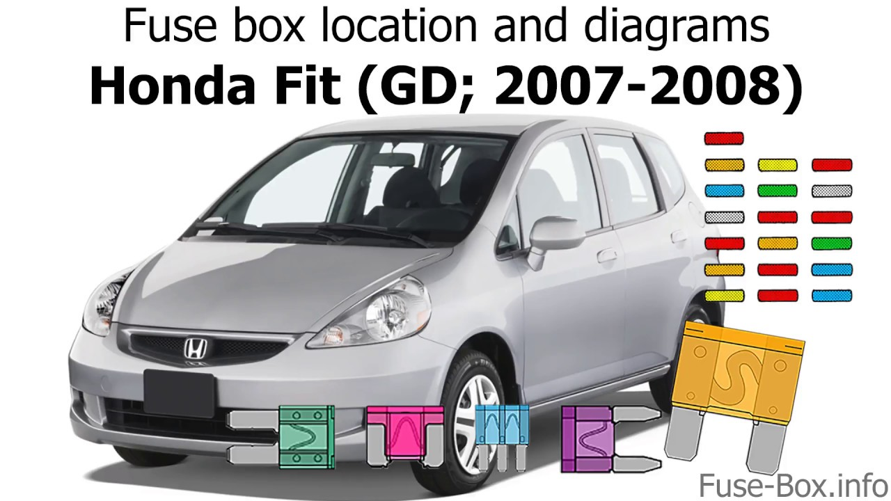 fuse box location and diagrams: honda fit (gd; 2007-2008) - youtube  youtube