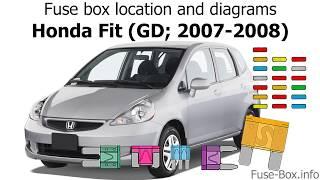 [SCHEMATICS_4CA]  Fuse box location and diagrams: Honda Fit (GD; 2007-2008) - YouTube | 2007 Honda Fit Fuse Box |  | YouTube