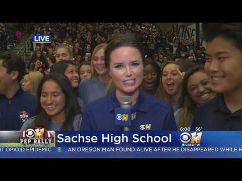 CBS 11 Pep Rally Visits Sachse High School