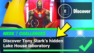 Discover Tony Stark's hidden Lake House laboratory LOCATION - Fortnite Week 7 Challenges