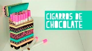 Cigarros de chocolate con cajetilla Anie