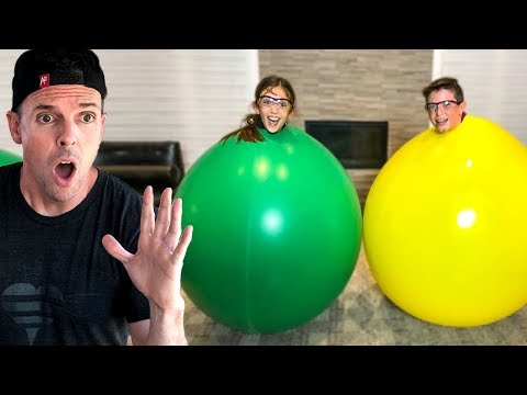 STUCK IN A GIANT BALLOON!!