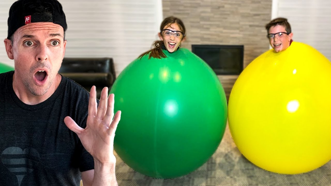 STUCK IN A GIANT BALLOON!! - YouTube