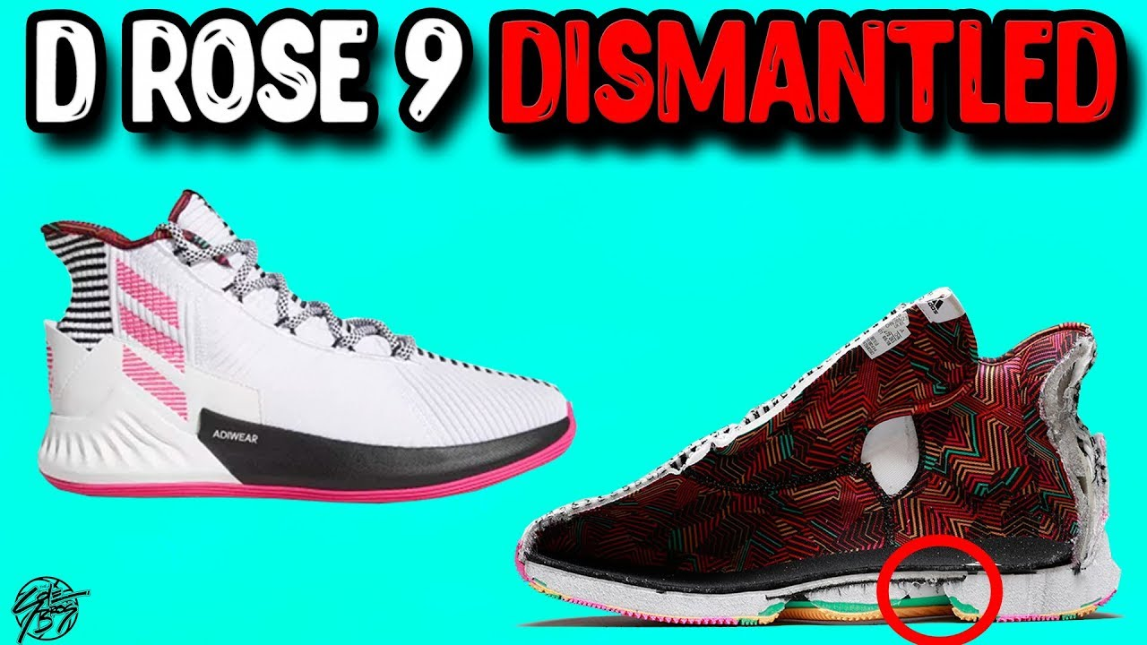 Looking Inside the Dismantled Adidas D ROSE 9! - YouTube 830fc3b0d