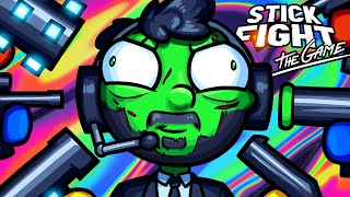 Stick Fight Funny Moments - Gang Up on the Green Guy!