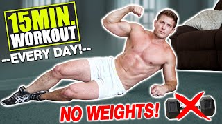 """15 MIN AT HOME """"FULL BODY"""" WORKOUT! (NO EQUIPMENT NEEDED!) 